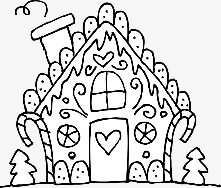 Gingerbread House Png, Christmas Coloring Sheets Gingerbread House,  Transparent Png (#7828956), PNG Images On PngArea
